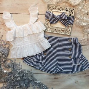 Other - Boutique Toddler Girls 3pc Trendy Outfit